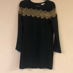 Everly Boutique Black Dress w/ Lace